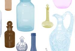 Glass Bottles Brushes
