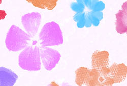 Painted Flowers Brushes